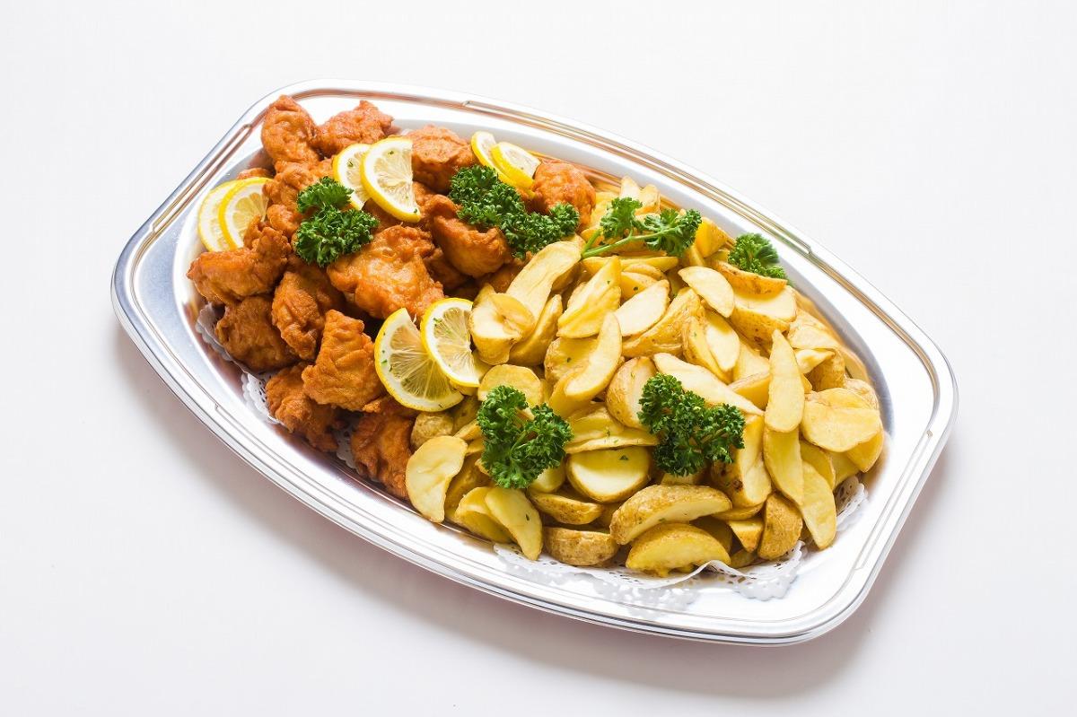 唐揚げ&フライドポテト つまみやすい定番人気メニュー「唐揚げ&フライドポテト」